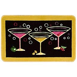Nourison 2-Foot 6-Inch x 1-Foot 6-Inch Martini Kitchen Rug in Black