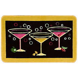 Nourison 2-Foot 6-Inch x 1-Foot 6-Inch Martini Kitchen Rug in Black