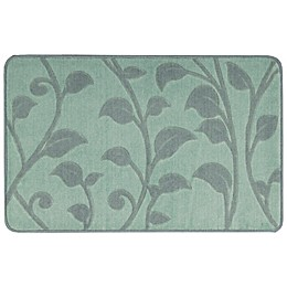 Nourison 2-Foot 9-Inch x 1-Foot 8-Inch Leaves Kitchen Rug in Blue