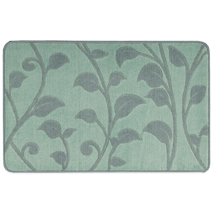 Nourison 2-Foot 9-Inch X 1-Foot 8-Inch Leaves Kitchen Rug