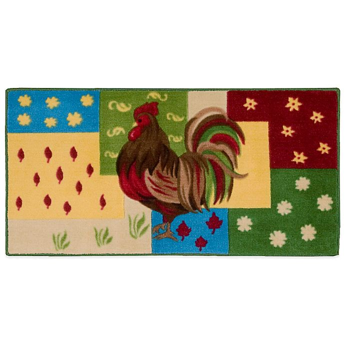 Nourison 3-Foot 4-Inch x 1-Foot 10-Inch Rooster Kitchen Rug ...