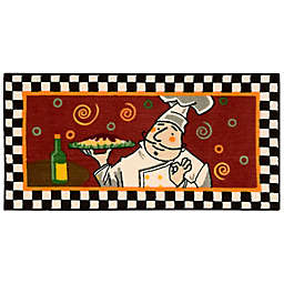 Nourison 3-Foot 4-Inch x 1-Foot 10-Inch Chef Kitchen Rug in Red