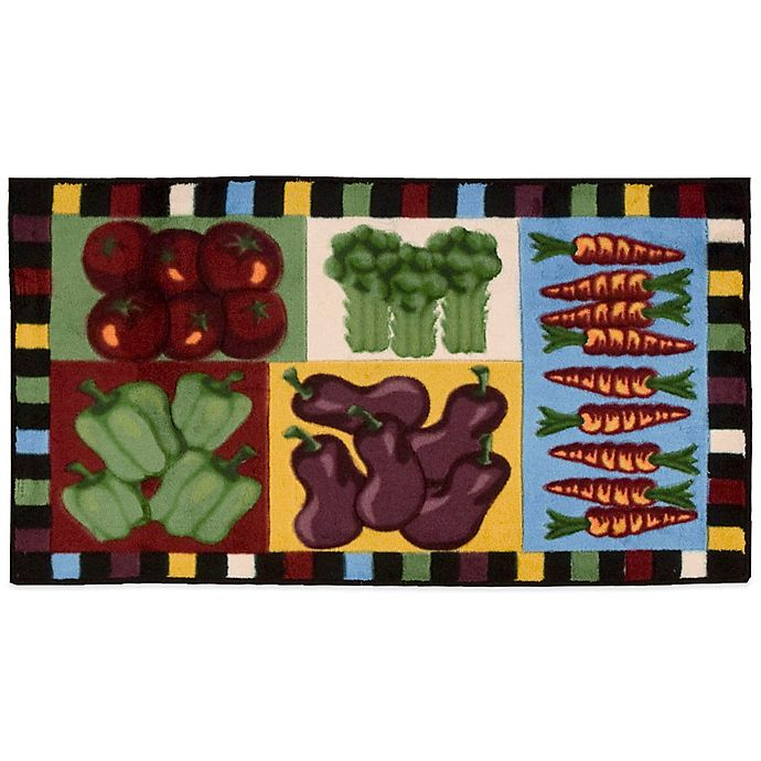 Nourison 40-Inch X 22-Inch Vegetables Kitchen Rug In