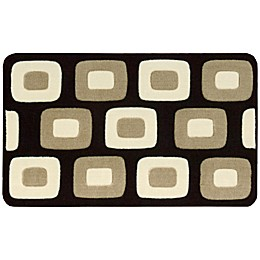 Nourison 30-Inch x 20-Inch Boxes Kitchen Rug in Black
