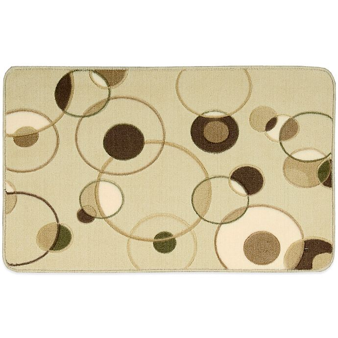 Nourison 30-Inch X 20-Inch Circles Kitchen Rug In Beige