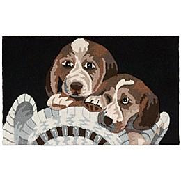Nourison 32-Inch x 20-Inch Beagle Dog Kitchen Rug in Black