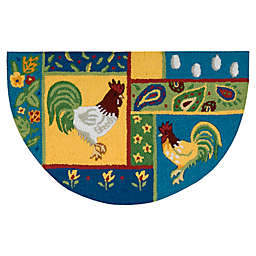Nourison 32-Inch x 19-Inch Chickens Kitchen Rug in Multicolor