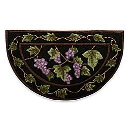 Nourison 32-Inch x 19-Inch Grapes Kitchen Rug in Black