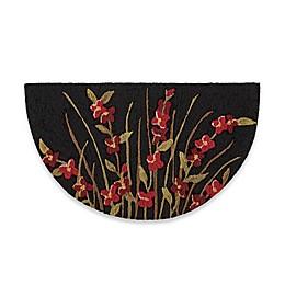 Nourison 32-Inch x 19-Inch Wild Flowers Kitchen Rug in Black