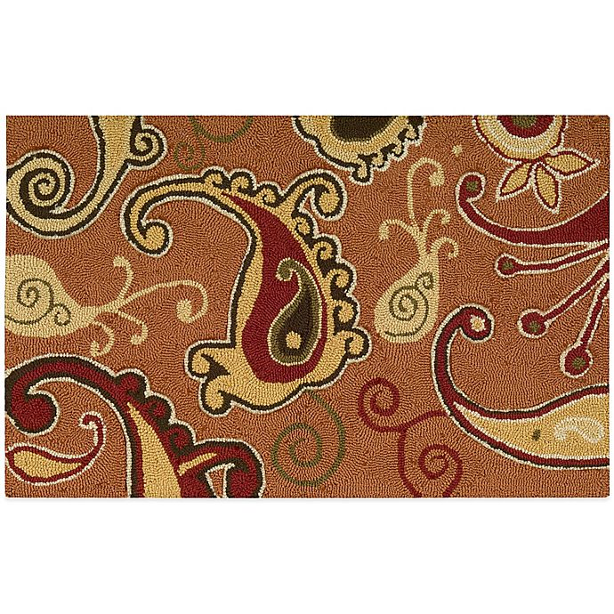 Nourison Paisley 33-Inch X 20-Inch Kitchen Rug In Orange