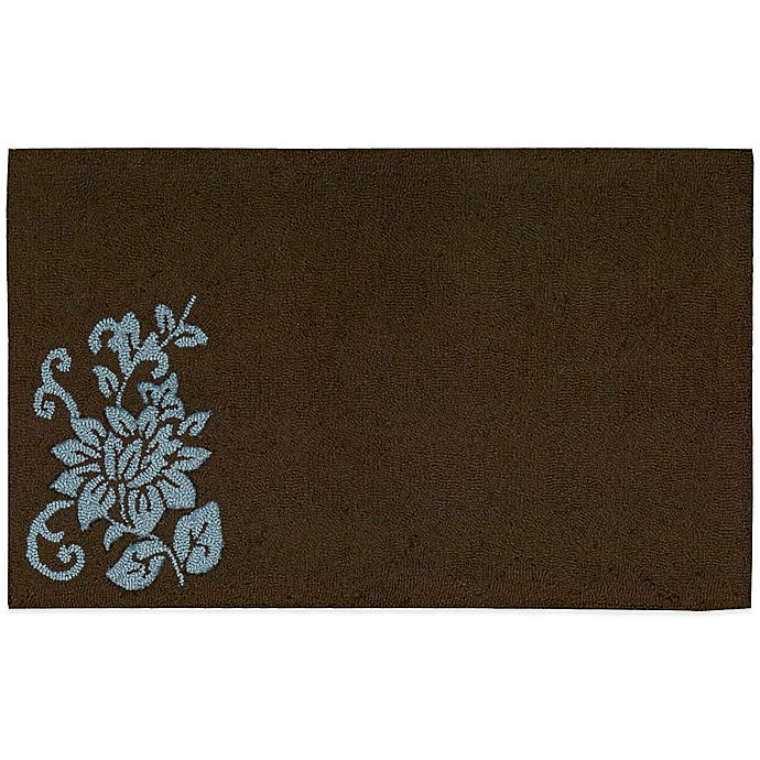 Nourison Solid Floral 33-Inch X 20-Inch Kitchen Rug In