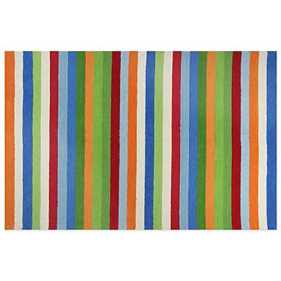 KAS Kidding Around Cool Stripes Area Rug in Multi