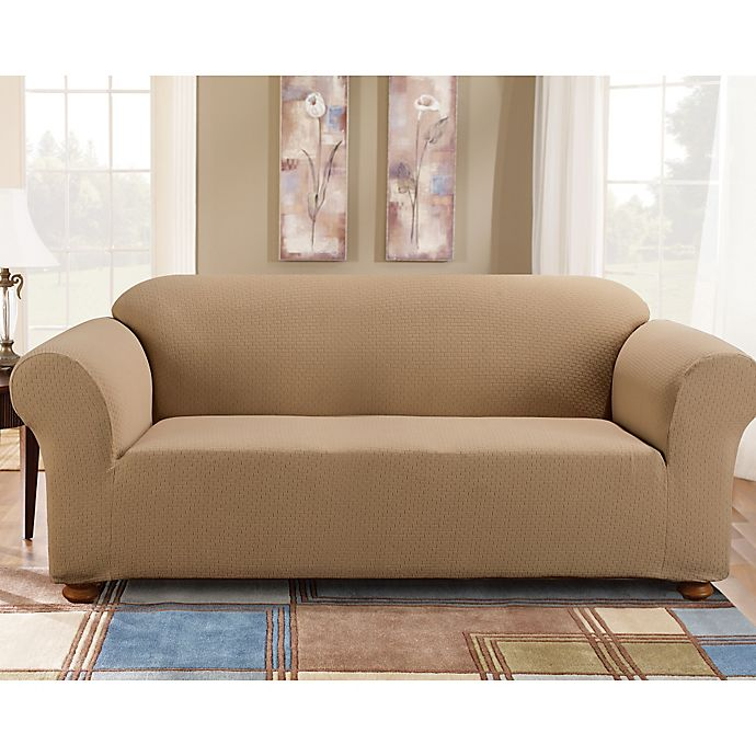 Sure Fit 174 Simple Stretch Subway Tile 1 Piece Sofa