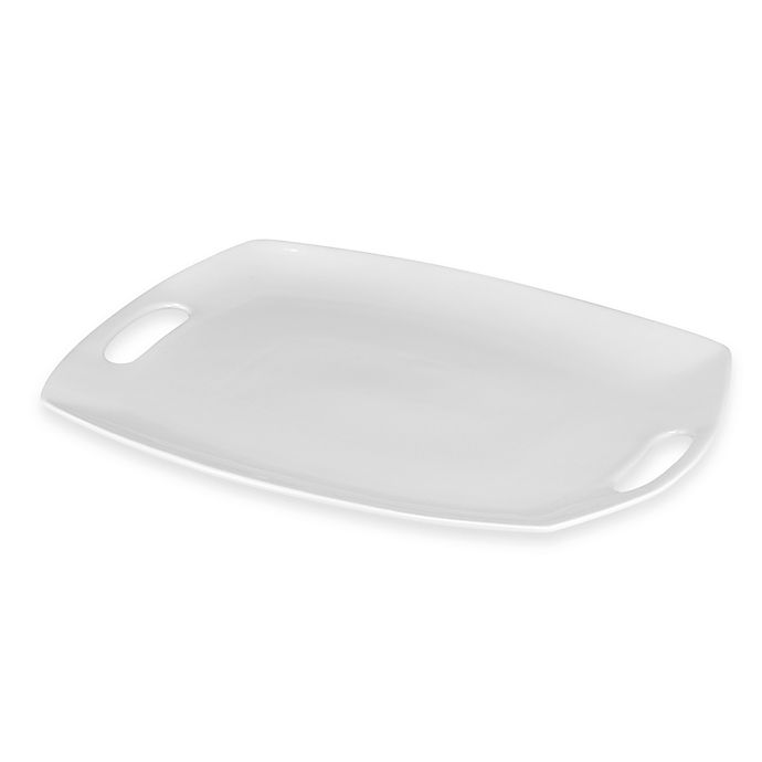 Alternate image 1 for Everyday White® by Fitz and Floyd®  Platter with Handles