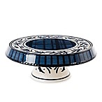 Fitz and Floyd® Bristol Indigo Floral Chip and Dip/Cake Plate