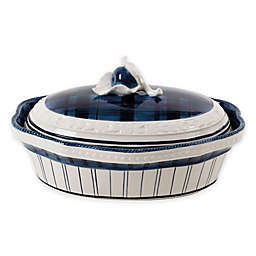 Fitz and Floyd® Bristol Indigo Tartan Covered Serving Dish