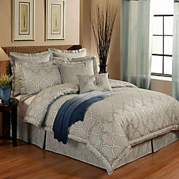 Austin Horn En'Vogue Glamour Comforter Set in Spa Blue