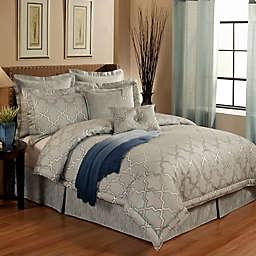 Austin Horn En'Vogue Glamour Comforter Set in Spa Blue
