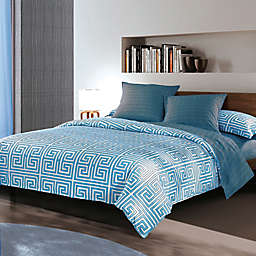 Sherry Kline Labyrinth Reversible Duvet Cover Set in Blue