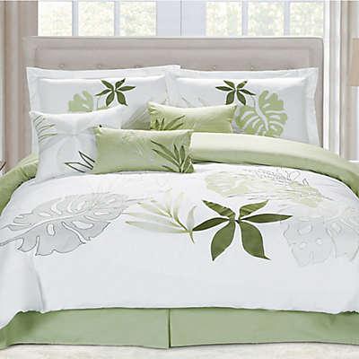 Panama Jack Lagoon Comforter Set in White