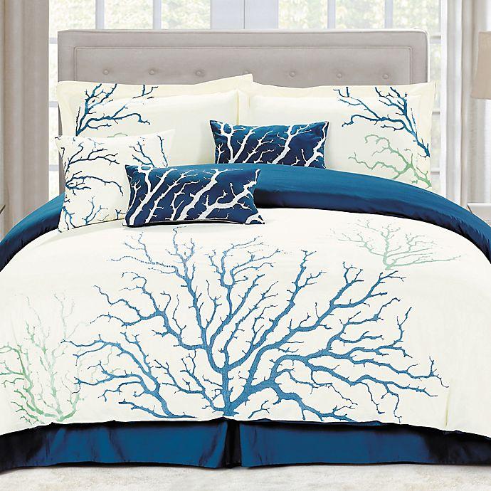 Alternate image 1 for Panama Jack Coral Comforter Set in Blue