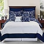 Enzo Reversible 8-Piece Queen Comforter Set in Navy/White