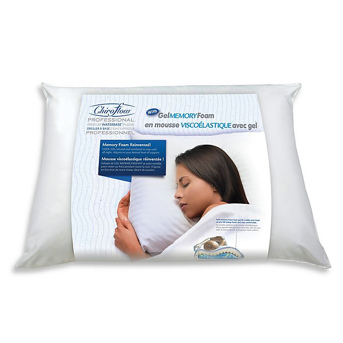 Alternate image 1 for Mediflow® Gel Memory Foam Waterbase® Pillow