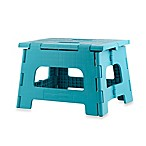 Kikkerland® Easy Folding Step Stool in Aqua