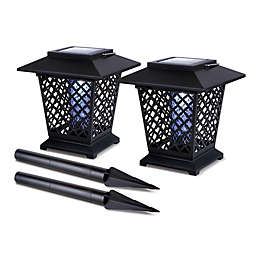 Solar Lantern Bug Zappers (Set of 2)