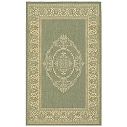 Couristan® Antique Medallion Indoor/Outdoor Rugs in Green/Natural
