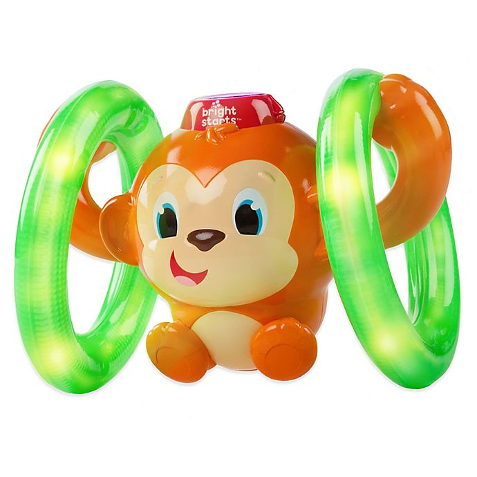 Alternate image 1 for Bright Starts Lights, Lights Baby Roll and Glow Monkey