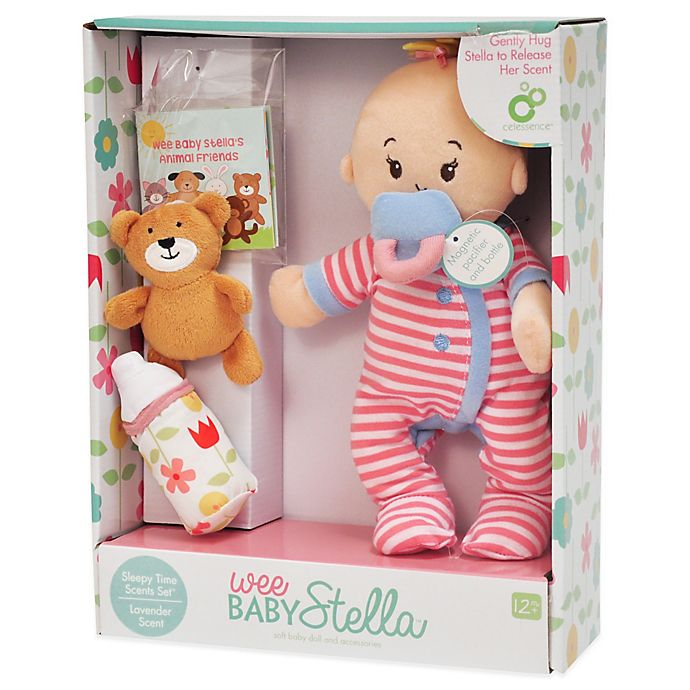 Alternate image 1 for Manhattan Toy® Wee Baby Stella Sleepy Time Doll Set with Lavender Scent
