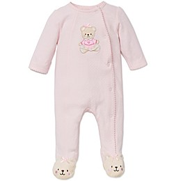 Little Me® Sweet Bear Footie in Pink