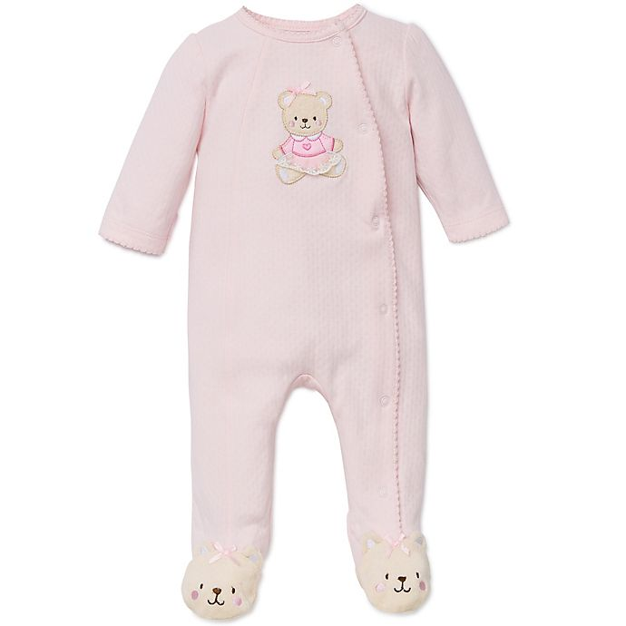 Alternate image 1 for Little Me® Sweet Bear Footie in Pink