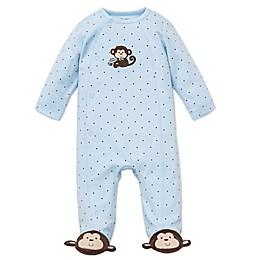 Little Me® Monkey Star Side-Snap Footie in Blue