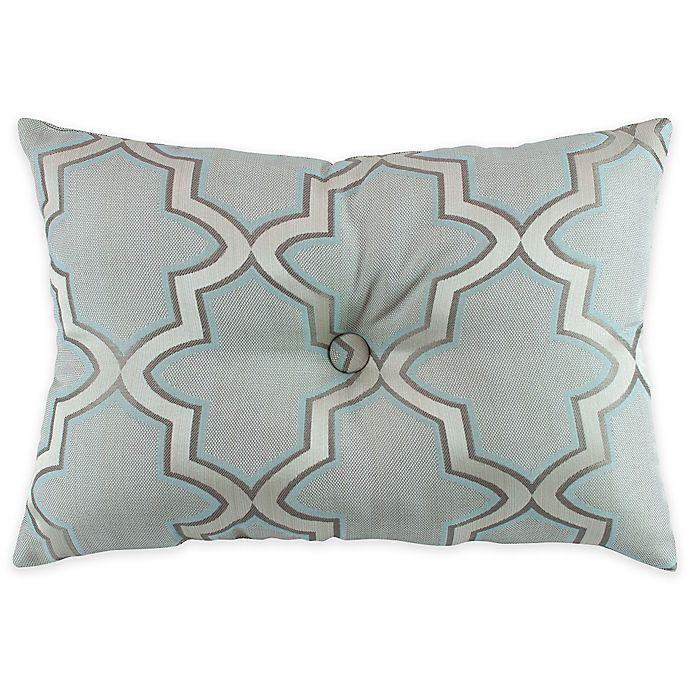 Alternate image 1 for Austin Horn En'Vogue Glamour Oblong Throw Pillow in Spa Blue