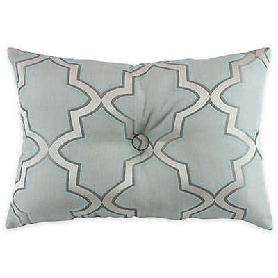 Austin Horn En'Vogue Glamour Oblong Throw Pillow in Spa Blue