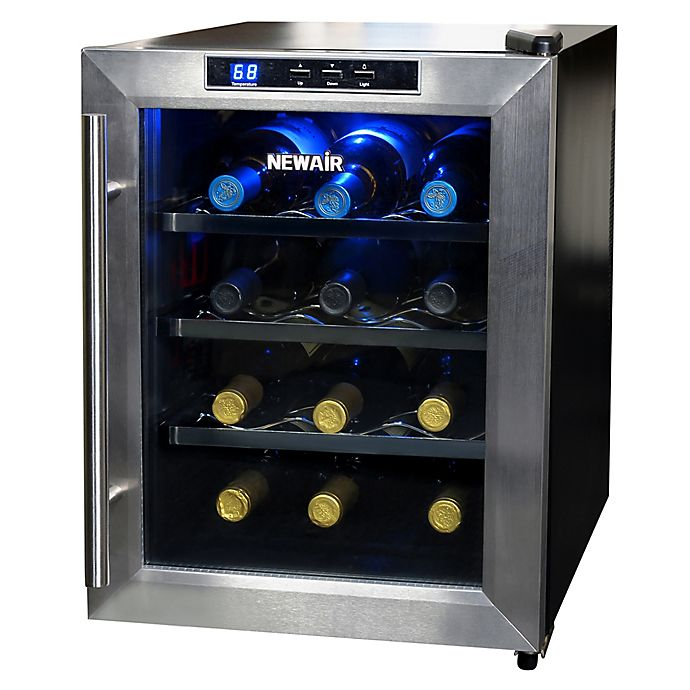 Alternate image 1 for NewAir® Stainless Steel 12-Bottle Single-Zone Wine Cooler