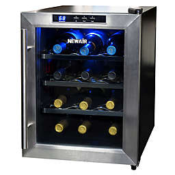 Newair Silent Wine Refrigerator 12 Bottle In Stainless Steel