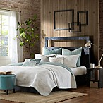 INK+IVY Pacific Reversible Full/Queen Coverlet Set in Blue