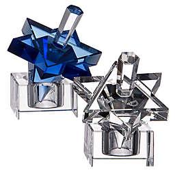 Star of David Hanukkah Crystal Dreidel