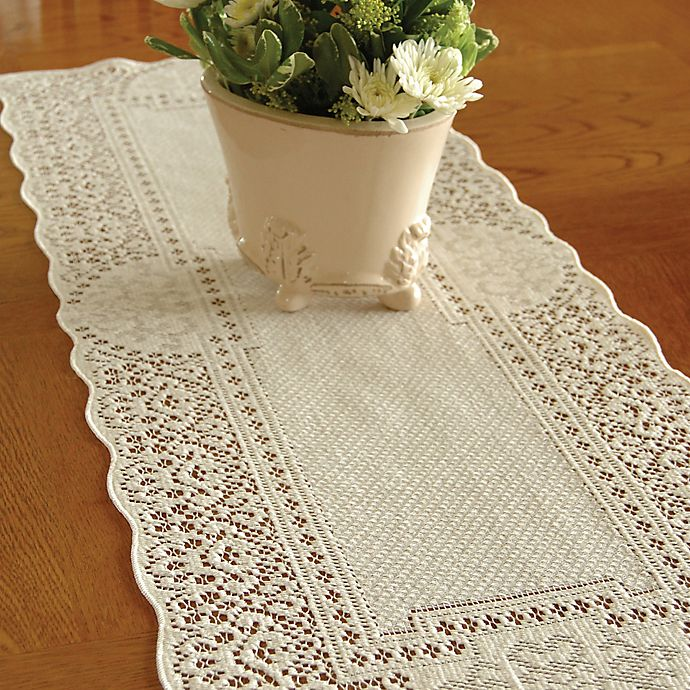 Alternate image 1 for Heritage Lace® Canterbury Classic Table Runner