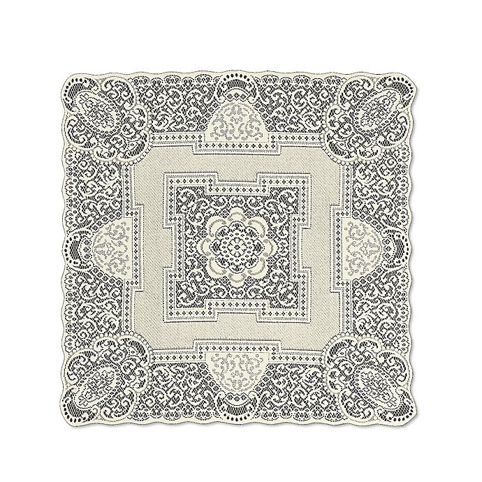 Alternate image 1 for Heritage Lace® Canterbury 36-Inch Table Topper in Ecru