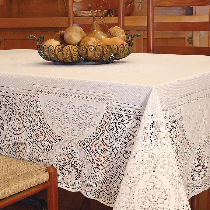 Alternate image 1 for Heritage Lace® Canterbury 70-Inch x 90-Inch Tablecloth in Ecru