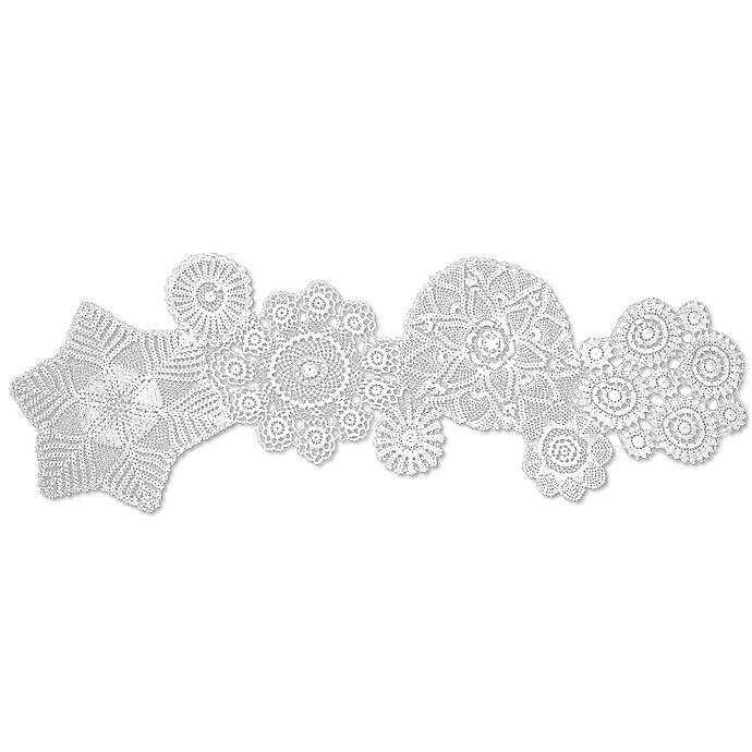 Alternate image 1 for Heritage Lace® Blue Ribbon Crochet 50-Inch Table Runner in White