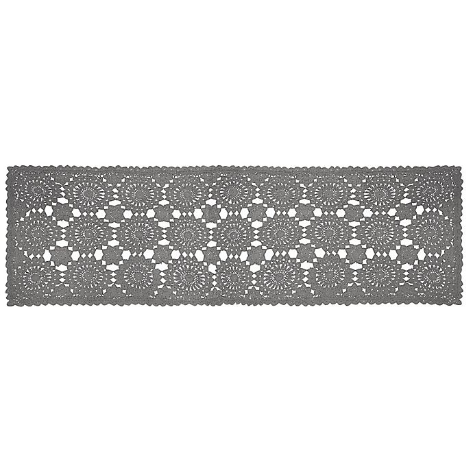 Heritage Lace 174 Blue Ribbon Crochet 54 Inch Table Runner