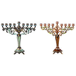 Jeweled and Enamel Hanukkah Menorah