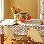 Heritage Lace® 58-Inch x 84-Inch Polka Dot Tablecloth in White