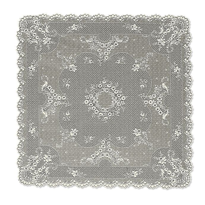 Alternate image 1 for Heritage Lace® Floret 36-Inch Table Topper in Ecru