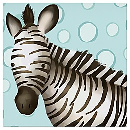 Oopsy Daisy Timmy the Zebra Canvas Wall Art